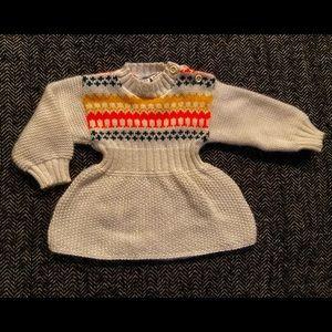 Vintage Simpson sweater dress with fair isle pattern .